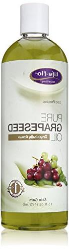 Life-Flo Pure Grapeseed Oil Organic - 16 fl oz -pack of 2