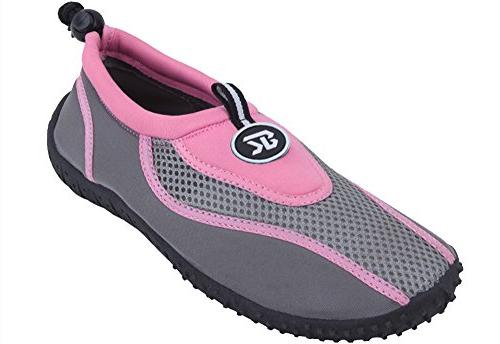 Brand New Women's Pink & Gray Athletic Water Shoes Aqua