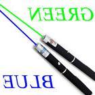 2PCS Green + Blue Violet Light Powerful 5MW Laser Pointer