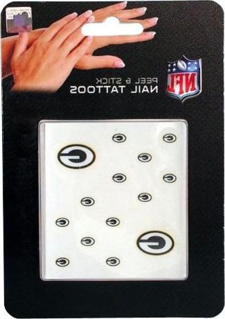 NFL Green Bay Packers Nail Tattoos