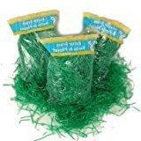 3 Pack of Green Reusable Shredded Plastic Easter Basket