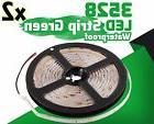 2X Green 5M Waterproof 300 LED 3528 SMD Flexible LED Light Lamp Strip DC 12V Car
