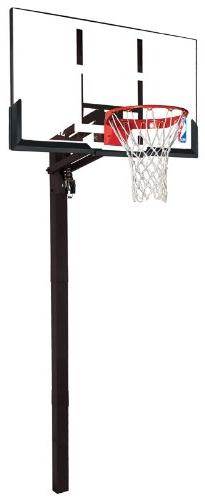 Spalding 54-Inch In-Ground Basketball System with Acrylic