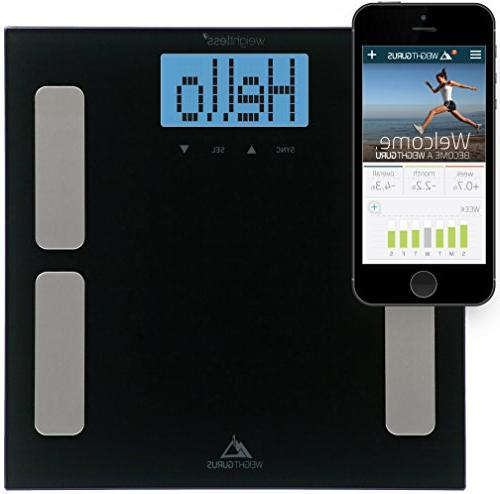Weight Gurus Digital Body Fat Scale with Large Backlit LCD