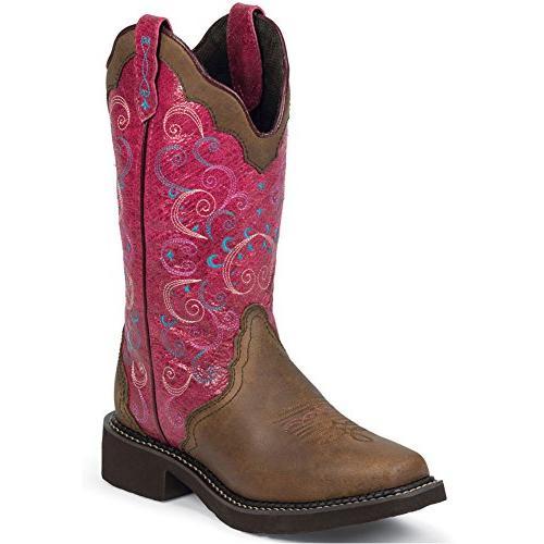 "Justin Boots Women's Gypsy Collection 12"" Boot,Walnut Blazer"