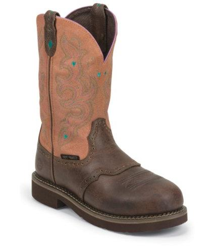 Women's Justin 11 inch Composite Toe Western Work Boots,