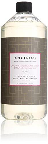 Caldrea Hand Soap Refill, Rosewater Driftwood, 32 Ounce