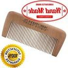 HANDCRAFTED NATURAL WOOD BEARD AND MUSTACHE COMB ANTI-STATIC