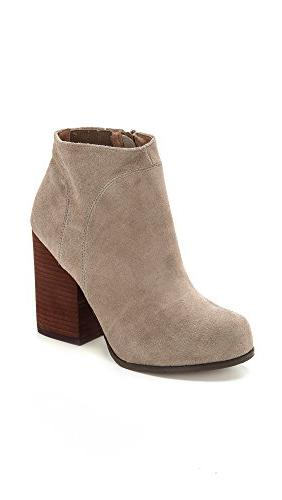 Jeffrey Campbell Women's Hanger Suede Booties, Taupe, 8 B US