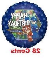 "Megaman Happy Birthday 18"" Mylar Balloon"