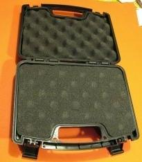 "Hard Plastic Black Gun Case 10.5"" x 7.8"" x 3"