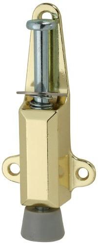 National Hardware V811 Door Stop/Lock in Brass
