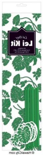 Hawaiian Candy Lei Making Kit - 5 Green Lei Kits