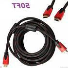 50ft PREMIUM HDMI CABLE For BLURAY 3D DVD PS HDTV XBOX LCD HD TV 1080P Black Red