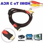 HDMI Male to 3 RCA Video Audio AV Cable Adapter For HDTV DVD