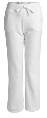 Ladies Heavy Blend Yoga Style Sweatpants, XL, White