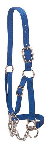 Weaver Leather Heavy-Duty Restraint Halter, Blue, Medium