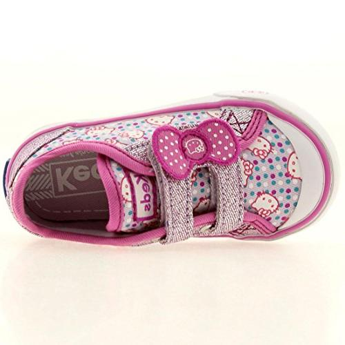 Hello Kitty I Heart Kitty HL Sneaker ,Purple Print,7 M US