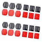 12pcs Helmet Accessories 3M Flat Curved Adhesive Mount For