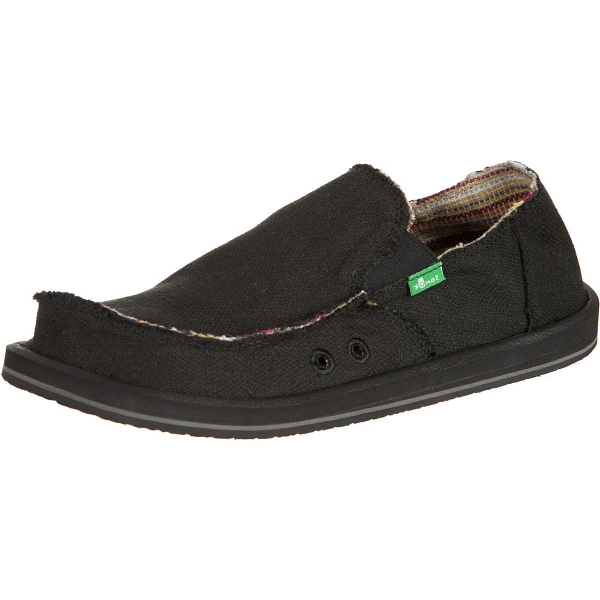 Sanuk Hemp Shoe - Men's Black, 9.0