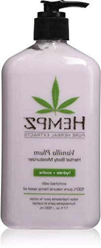 Hempz Herbal Body Moisturizer, Light Purple, Vanilla Plum,