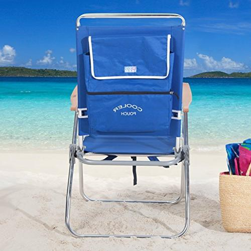 Rio Hi-Boy Backpack Beach Chair with Cooler