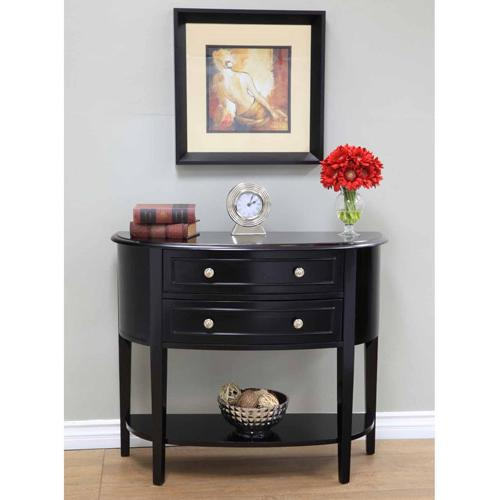 Home Craft Console Table, Black Finish