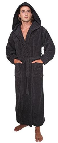 Arus Men's Hood'n Full Ankle Length Hooded Turkish Cotton