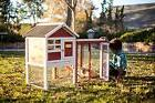 Small Outdoor Pet House Rabbit Bunny Hutch Cage Animal