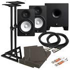 "Yamaha HS8 8"" Powered Studio Monitor Speaker COMPLETE AUDIO"