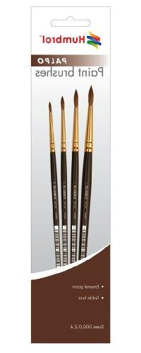 Humbrol AG4250 Palpo Paint Brushes Sizes 000,0,2,4