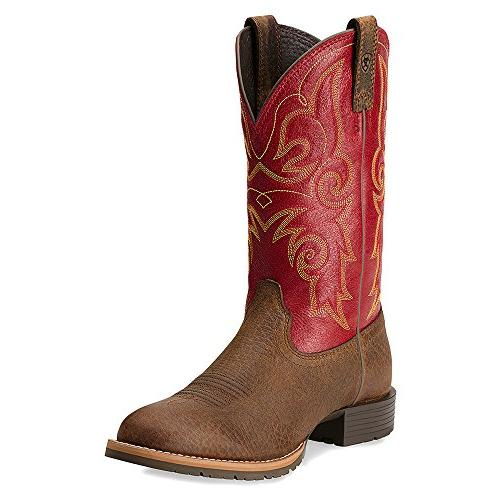 Ariat Women's Hybrid Rancher Boot,Earth/Mega Red,7 M US