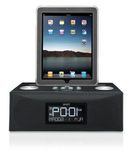 iHome iD84BZ 30 pin App-Enhanced Dual Alarm Clock Radio for