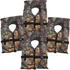 4 Pack Type II Camo Life Jacket Vest - Adult Universal