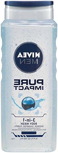 Nivea For Men Pure Impact Shower Gel - 16.9 oz