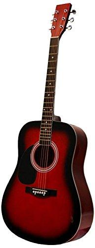 "41"" Inch Full Size Red Handcrafted Steel String Dreadnought"