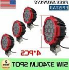 4x 7inch 51W Round LED Work Lights Spot Offroad Boat ATV SUV