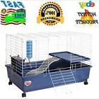 Indoor Bunny Rabbit Rolling Cages With Wheels Hamster Guinea