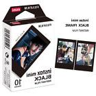 10 Sheet Fujifilm Instax Instant Black Frame Film - Mini 7s