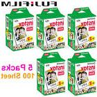 Pack 100 Fujifilm Instax Mini Instant Camera Sheet Fuji