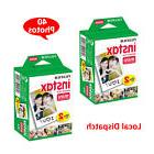 40 Sheets Fujifilm Instax Mini Plain White Color Film Camera