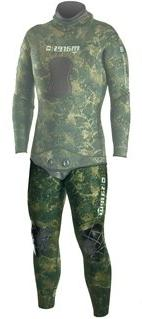 Mares Pure Instinct 3.5mm Green Camo Men's Wetsuit John - S