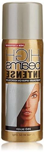 high beams Intense Temporary Spray on Hair Color, Silver, 2.