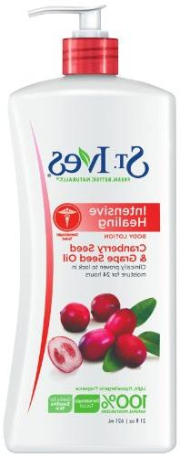 St Ives Intensive Healing Body Lotion Cranberry Seed and