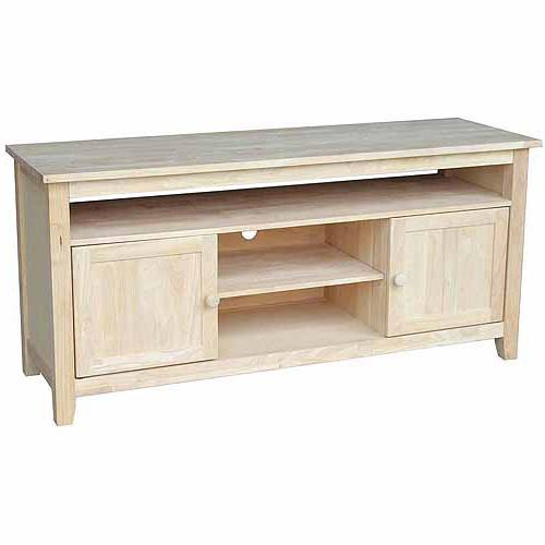 International Concepts Tv-42 TV Stand with Glass Doors,