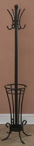 Iron Tube Coat Rack with Umbrella Holder by Poundex