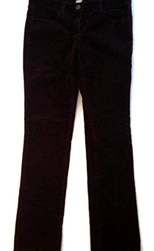 J Crew Womens Stretch Corduroy Velvet Pants Sz 29R Dark