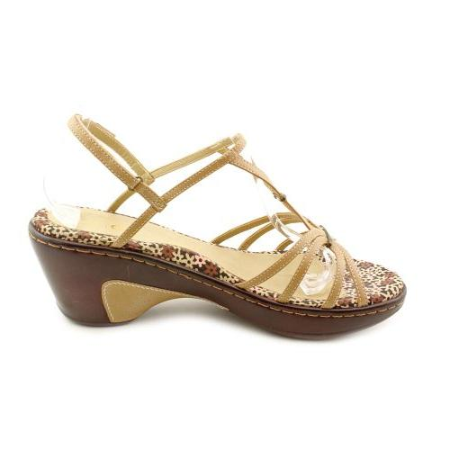 JAMBU GIGI WEDGE STRAPY SANDAL NUDE TAN LEATHER WOMEN SHOE