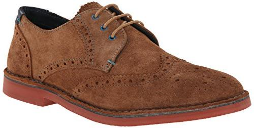 Ted Baker Men's Jamfro 4 Oxford,Tan Suede,9.5 M US