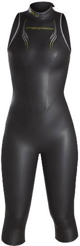 NeoSport Women's Jane 5/3mm Triathlon Wetsuit, Black/Yellow